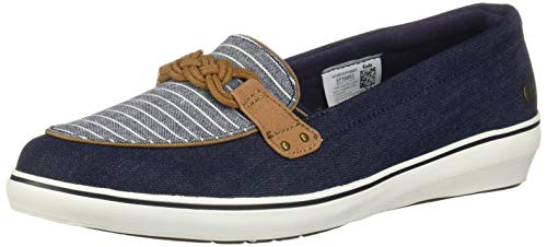 - Grasshoppers Women's Windsor Knot Denim Sneaker, Stripe, 8.5