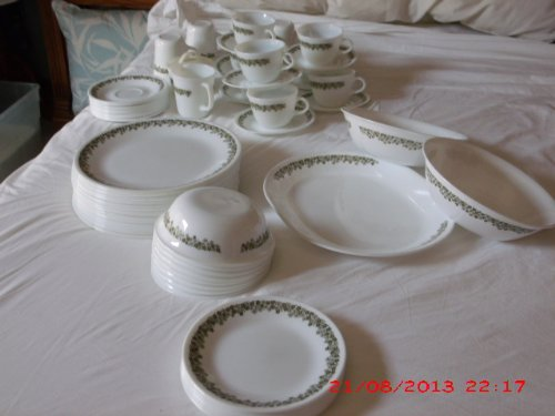 green corelle dishes - 4