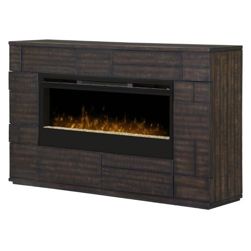 Dimplex Markus Glass Ember Bed Electric Fireplace Mantel ...