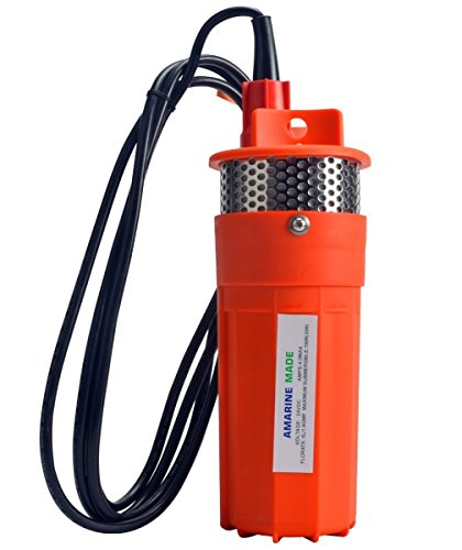 Well water pump, 12 V / 24 V DC, solar water pump, with solar cell, alternative energy, 70 - Gpm Manual Pump Submersible Sump