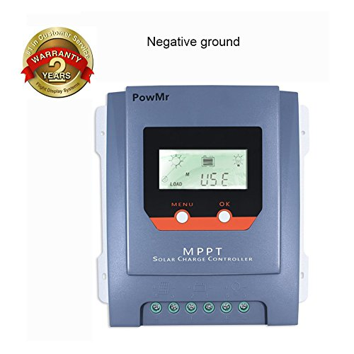 PowMr MPPT Charge Controller 30amp Negative Ground, Solar Panel Charger controller 24V 780W 12V 390W Solar Charge for Agm Flooded Gel Batteries Waterproof and Weatherproof LCD Display by PowMr