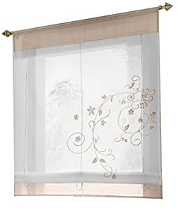 1pcs country style floral embroidered roman for Country style kitchen blinds
