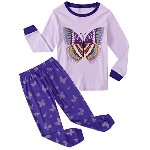 Qzrnly Girls Pajamas Kids Mermaid Pjs Set Toddler Clothes Giraffe Sleepwear -