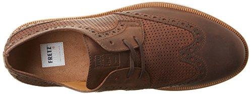 FRETZ men Steven, Zapatos de Cordones Derby para Hombre marrón (Caramel)