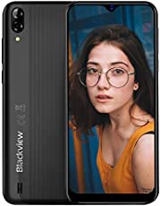 Mobile Phone, Blackview A60 Smartphone SIM Free Android Phones Unlocked, 6.1 inches Waterdrop Full-Screen, 4080mAh Battery, 5MP+13MP Dual Camera, Dual SIM Android 8.1 Oreo Phone, UK Version - Black
