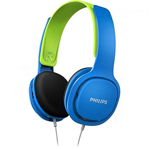 Philips Coolplay Kids On-Ear Headphones - 85dB Volume Limiter - Safer Hearing (SHK2000BL)