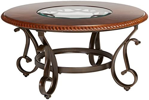 Ashley Furniture Signature Design » Gambrey Traditional Round Cocktail Table -,living room furniture