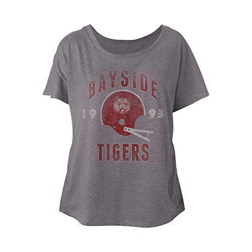 American Classics Saved by The Bell 80s Comedy Sitcom Bayside Tiger Pride Ladies Slouchy T-Shirt
