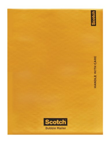 Scotch Bubble Mailer, 8.5 in x 13.75 in, Size #3, 25-Pack (7973-25-CS)