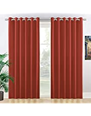 NIM Textile Room Darkening Blackout Curtains Thermal Insulated Black Out Drapes Grommet Top Blinds - 2 Panels Set