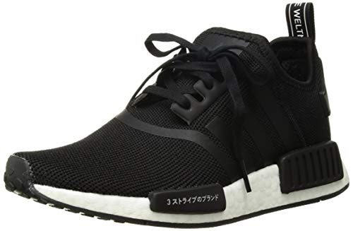 adidas Originals Unisex NMD_R1 Running Shoe, Black/Orchid Tint, 3.5 M US Big Kid by adidas Originals (Image #1)