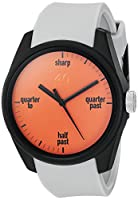 40Nine Men's 'Eclectic' Quartz Plastic and Silicone Casual Watch, Color:Grey (Model: 40N3.4)