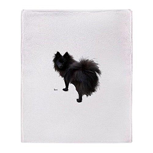 CafePress Black Pomeranian Soft Fleece Throw Blanket, 50
