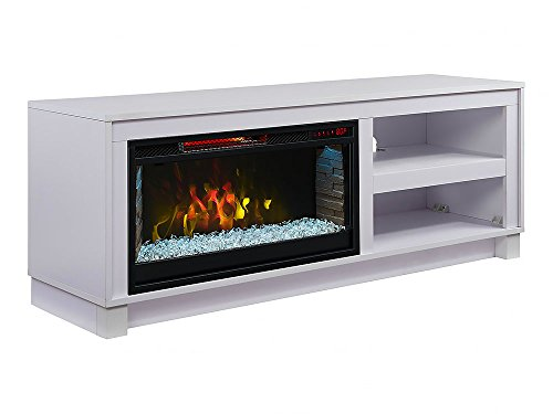 Comfort Smart Cameron Electric Fireplace TV Stand, White – CS-28MM1030-WHT