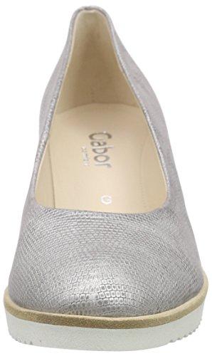 para Zapatos Plateado Comfort Mujer Gabor 4pgzSz