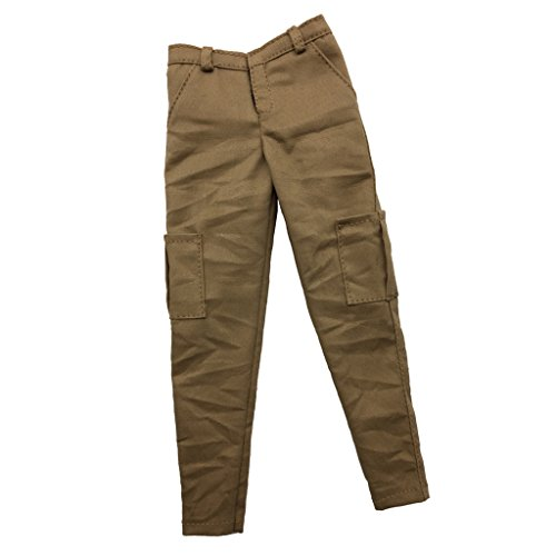 MagiDeal 1:6 Scale Action Figure Clothes Khaki Casual Pants Trousers Accessory 1 6th Scale Figures