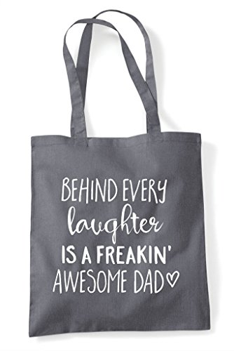 Awesome Every Statement Bag Grey Behind Shopper A Freaking Dad Laughter Family Dark Tote Is 8Xqqdvx6w