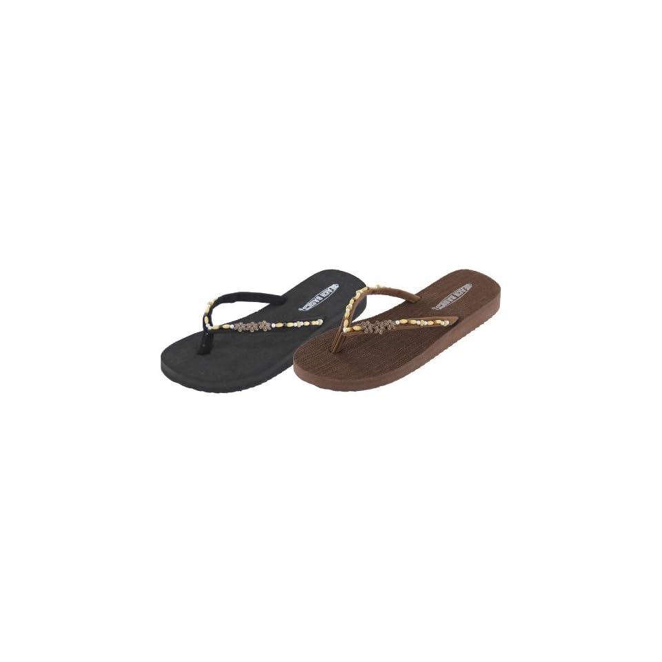 Women's Beaded Sandals Flip Flop Shoes