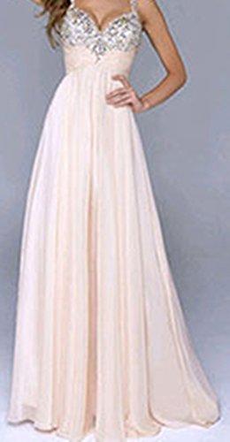 7971b8f8620 ... Damen Partykleid Elegant V-Ausschnitt Rückenfrei Maxi Lang Pailletten  Chiffon Kleid Abendkleid Cocktailkleid Evening Dress ...