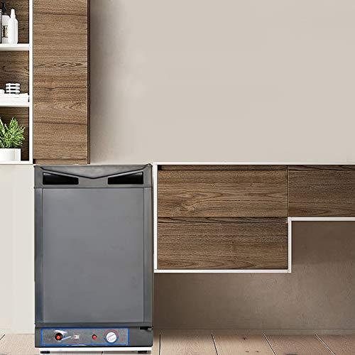 SMAD AC/DC/LPG Compact Refrigerator Propane Gas RV Fridge,1.4 cu. ft, Black
