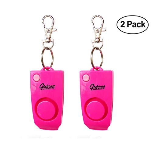 Personal Security Alarm [2 Pack] - 130dB Loud Emergency Alarm with Backup Whistle for Children, Girls, Ladies and Elder People
