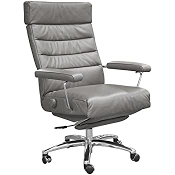 Superior Adele Executive Recliner Office Chair Grey Leather By Lafer Recliner Chairs