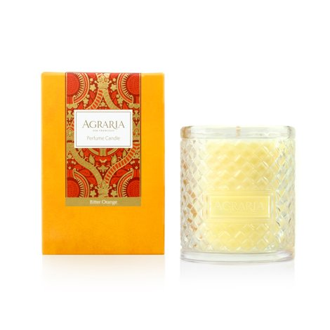 AGRARIA Luxury Woven Crystal Fragrance Bitter Orange Perfume Scented Candle, 7 - Orange Perfume Bitter Candle