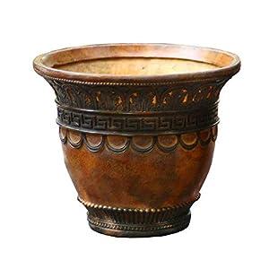 Low Urn Planter Flower Plant Pot Vase Garden Roman Cast Stone Ornate Decors Garden Vintage Flower Vase,31cm