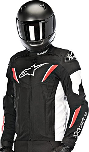 Alpinestars T-GP R Waterproof Men's Riding Jacket (Black/White/Red, X-Large)