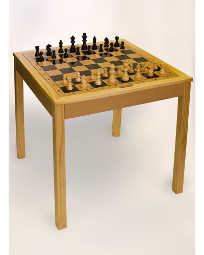 Sterling Games 3 in 1 (Chess/Checkers/Backgammon)Wooden Game Table by Sunnywood, - Sterling Checker