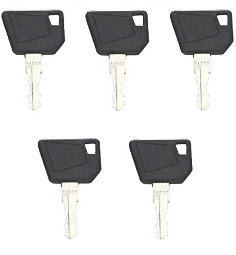 Ignition key 5 Pcs for JCB Equipment ,Bobcat, Bomag, Caterpillar, Dynapac, Ford, Gehl, Hamm, Hang, JCB, Moxy, New Holland, Rayco, Sky Trak, Terex, Vibromax, Volvo