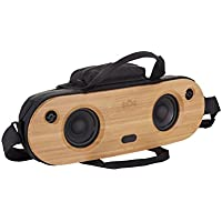 "House of Marley, Bag of Riddim Bluetooth Portable Audio System - 10 Hour Playtime,  2 x 3.5"" Woofer + 2 x 1"" Tweeters, Removable Bag with Strap & Handle, Bamboo Faceplate, EM-JA014-SB Siganture Black"