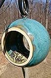 Handmade Modern Birdfeeder ~ Bird Feeder ~ Stoneware Ceramic Pottery in Turquoise Blue Speckle