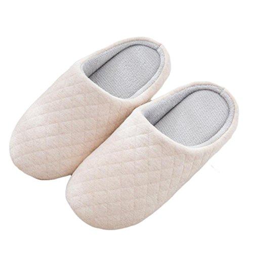 Slip Slippers Fille Chauds Confortable avec on Anti Femme Anti Homme d'intérieur Semelle Pantoufles Cotton ou WDGT Chaussons Hiver dérapant Chaussons 002 Dérapant 7UqZH