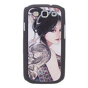 Bkjhkjy Tattooing Girl Pattern Hard Case for Samsung Galaxy S3 I9300