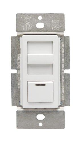 Leviton IPM10-1LZ IllumaTech 1000VA, 800W, Magnetic Low Voltage Dimmer, Single Pole and 3-Way, White/Ivory/Light Almond