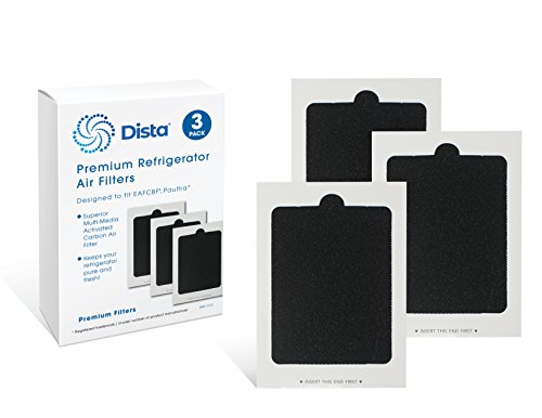 Dista - Refrigerator Air Filter Compatible with Part # PAULTRA & Part # EAFCBF Air Filter. (3-Pack)