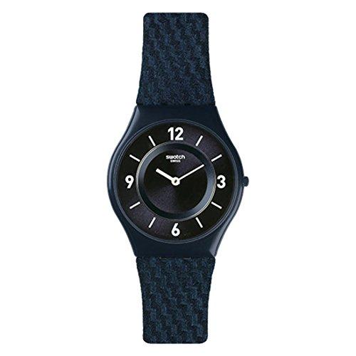 SWATCH RELOJ DE HOMBRE CUARZO SUIZO 34MM CORREA DE PIEL DE TERNERO SFN123: Amazon.es: Relojes