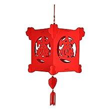 Pannow New Year Decoration Red Lantern Chinese Paper Lanterns Home Shop Wedding Festival Decoration