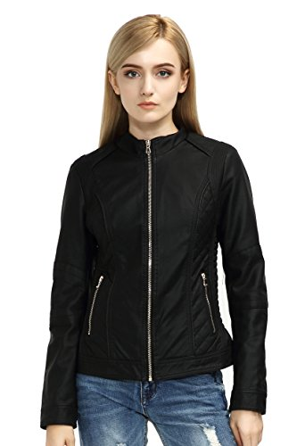 Bellivera Womens Leather Jacket Women Leather Coat for Spring Casual Short Jackets Womens Jacket Coat