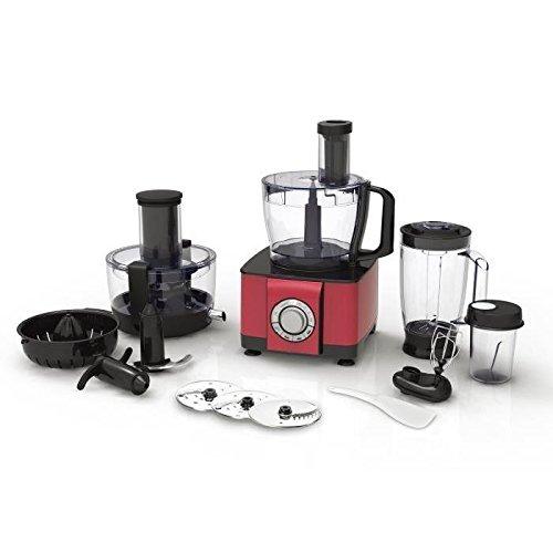 Robot multifunción rojo Mixer licuadora Blender picadora 2.4 Litre ...