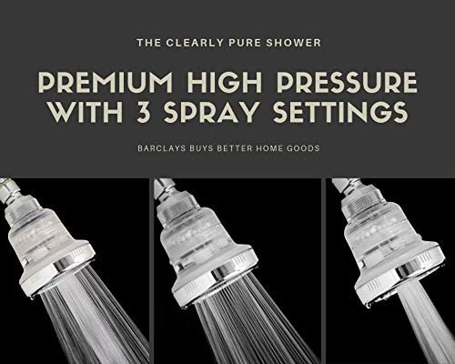 Barclay's Buys Filtered Shower Head 3 spray modes