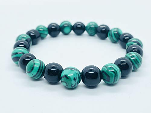 - The perfect Anti anxiety, and calming Malachite, Black Agate Healing Bracelet, energy bracelet,best selling bracelet, lucky charm bracelet,