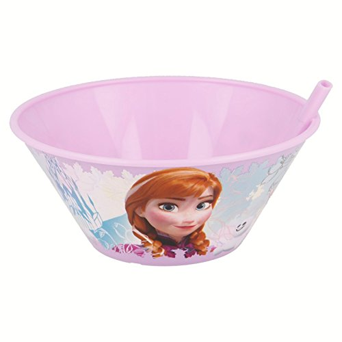 Bowl with Straw 500 ml Frozen Floral
