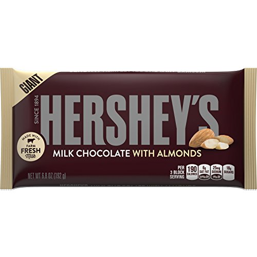 HERSHEY'S Chocolate Candy Bars with Almonds, 6.8 Ounce (Pack of -