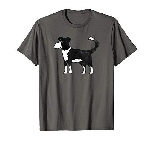 Border Collie Sheepdog Cartoon Illustration Dog Art T-Shirt