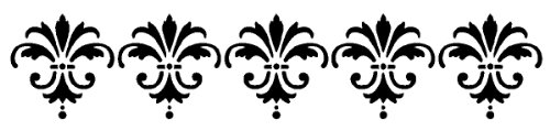 American Traditional Border Stencil 5x16-Inch -