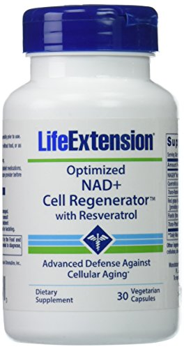 Life Extension Optimized NAD+ Cell Regenerator with Resveratrol, 30 Vegetarian Capsules