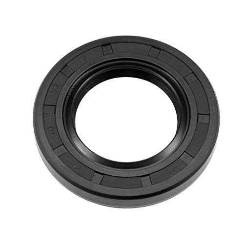 (uxcell Oil Seal, TC 30mm x 52mm x 7mm, Nitrile Rubber Cover Double Lip)