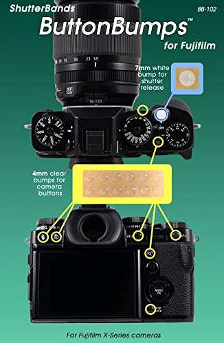 fits Sony a9, a7RIII, a7III, a7RII, a7SII, a7II, a7, a7R, a7S, a6500, a6300, a6000, a5000, NEX Series ShutterBands ButtonBumps for Sony E-Mount